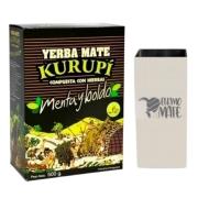 Kit Tereré - Erva Kurupí 500gr + Cuia Quadrada De Inox 200ml