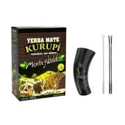 Kit Tereré - Erva Kurupí + Cuia Guampa Chifre + Bomba Inox