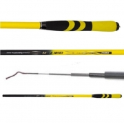 Vara de Pesca Telescópica de Mão Amarelo e Preto 3,00m 100% Carbono - Tianhui
