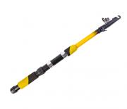 Vara de Pesca Telescópica para Molinete 1,7m 20Lb Fibra de Vidro Amarelo - CMIK
