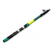 Vara de Pesca Telescópica para Molinete 1,7m 20Lb Fibra de Vidro Verde - CMIK