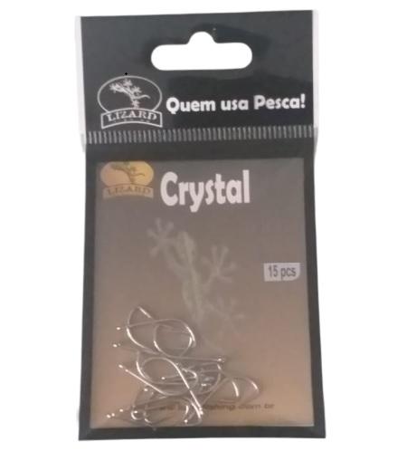 Anzol Crystal Nickel Prata com 15 unidades - Lizard Fishing