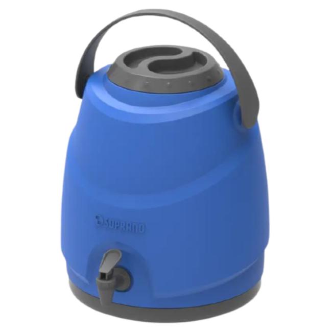 Botijão Térmico Aspen 9 Litros com Tripé e Porta Copo Azul - Soprano