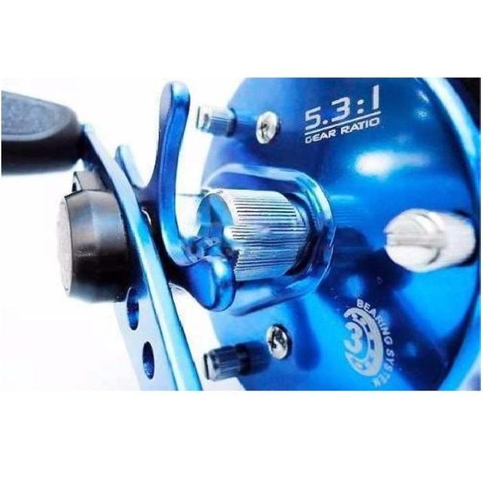 Carretilha Caster 200 3BIL Azul 5.3:1- 3 Rolamentos - Marine Sports
