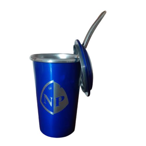 Kit Cuia de Alumínio 300 ML e Bomba Tradicional de Ferro - NÓ DE PESCA