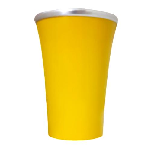 Cuia Copo de Tereré de Alumínio Amarelo - 200 ML