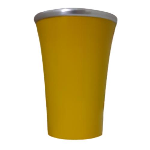 Cuia Copo de Tereré de Alumínio Mostarda - 200 ML