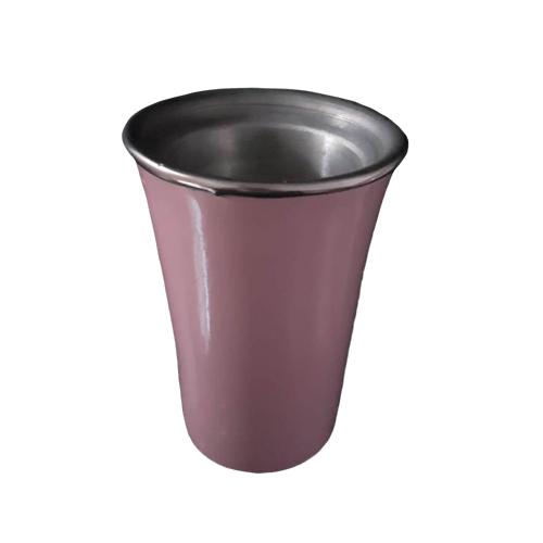 Cuia Copo de Tereré de Alumínio Pink - 200 ML