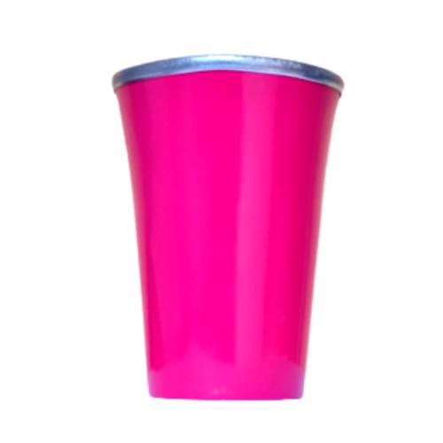 Cuia Copo de Tereré de Alumínio Pink Escuro - 200 ML