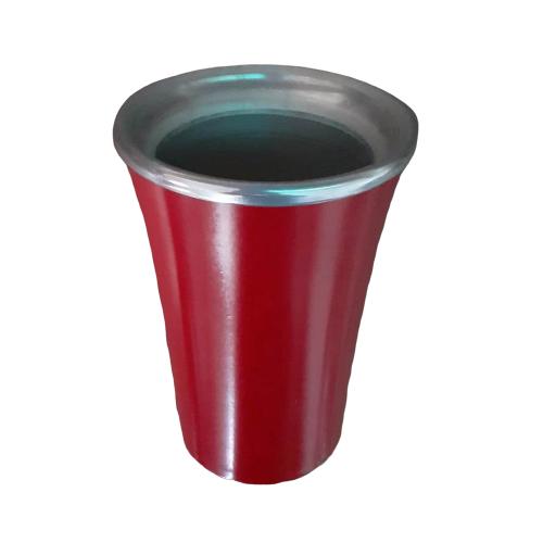 Cuia Copo de Tereré de Alumínio Vermelho - 200 ML