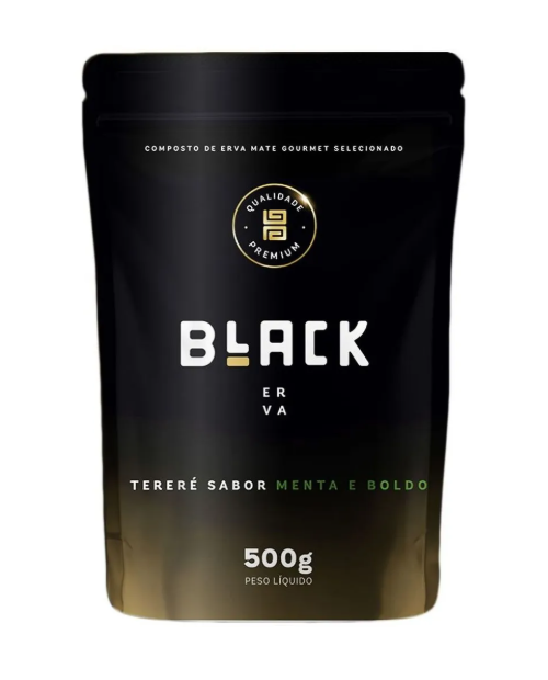 Erva para Tereré Gourmet Premium sabor Menta y Boldo 500 gramas - Black Erva