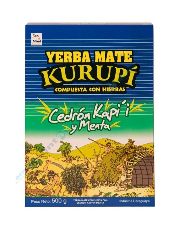 Erva para Tereré sabor Capim Limão y Menta 500 gramas - Kurupí