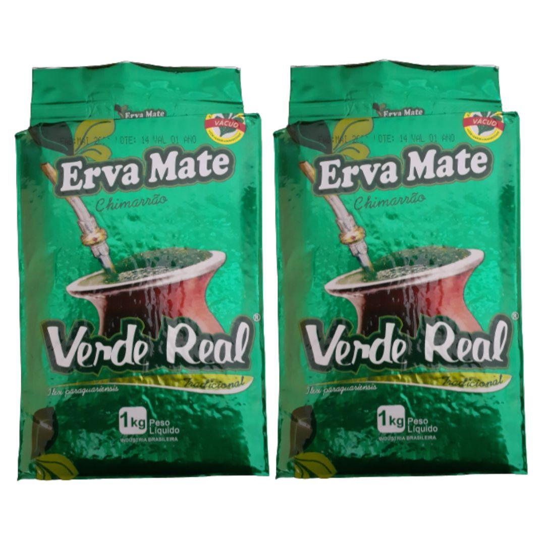 Kit 02 Ervas Mate Chimarrão Tradicional 1 Kg - Verde Real