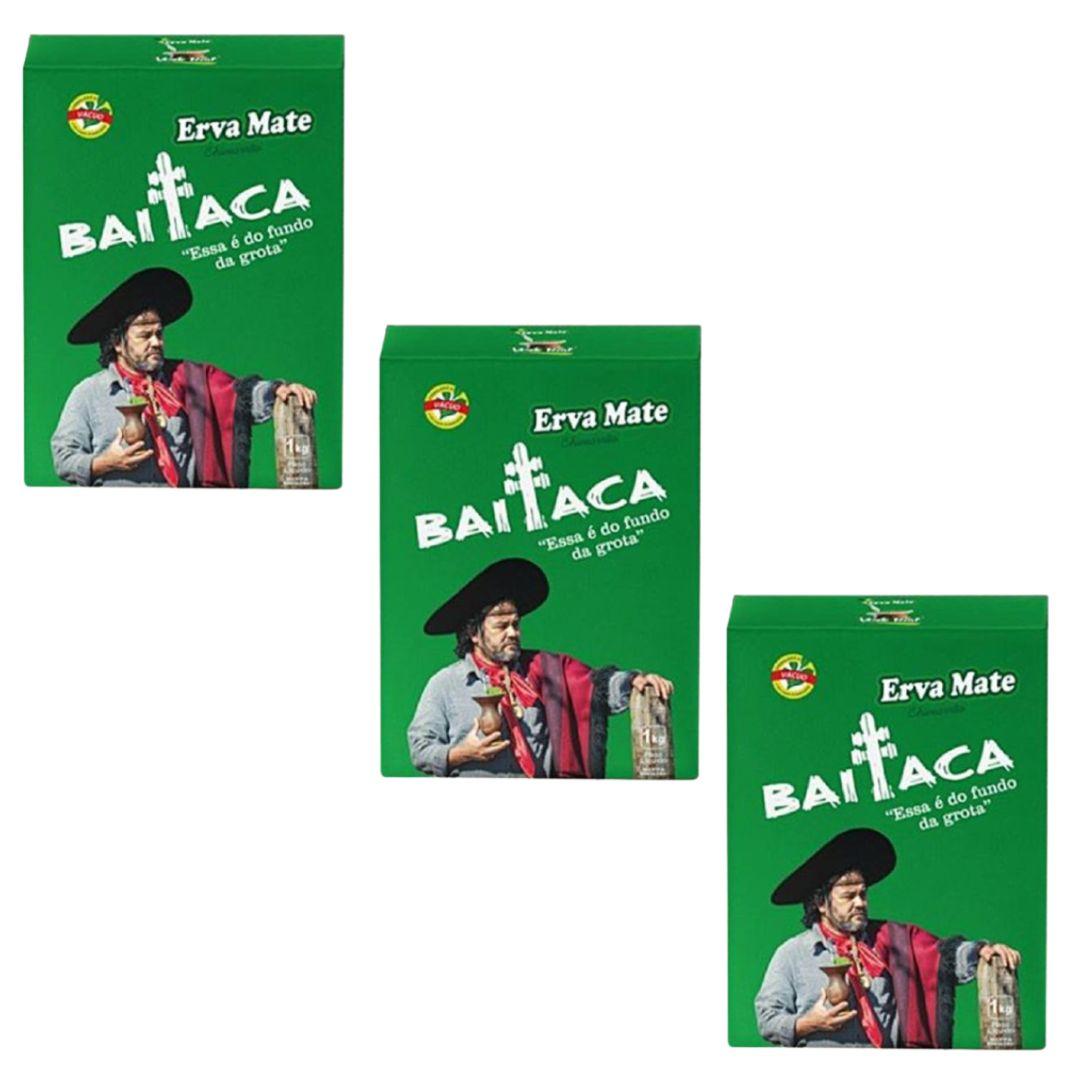 Kit 3 Ervas Chimarrão Baitaca 1kg Edição Especial Verde Real