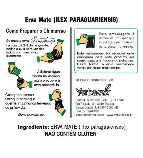 Kit 3 Ervas Mate Chimarrão Sabor Tradicional 1kg Constança