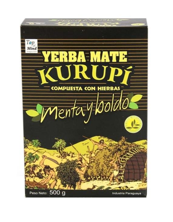 Kit 4 Ervas Mate Tereré Menta Y Boldo 500 Gramas - Kurupí