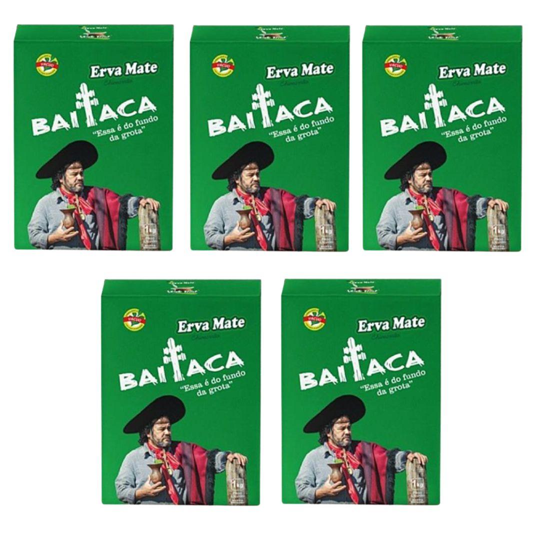 Kit 5 Ervas Chimarrão Baitaca 1kg Edição Especial Verde Real