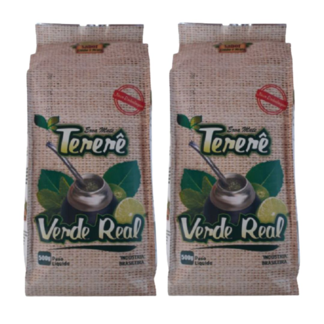 Kit 2 Erva para Tereré sabor Limão y Menta 500 gramas - Verde Real