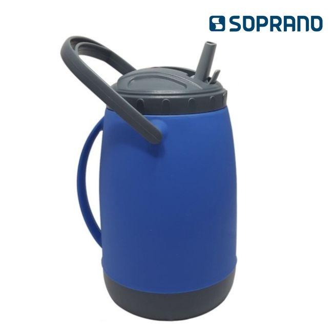 Kit - Garrafa Isotérmica 2,5 L + Bomba Aço Inox Rosqueável