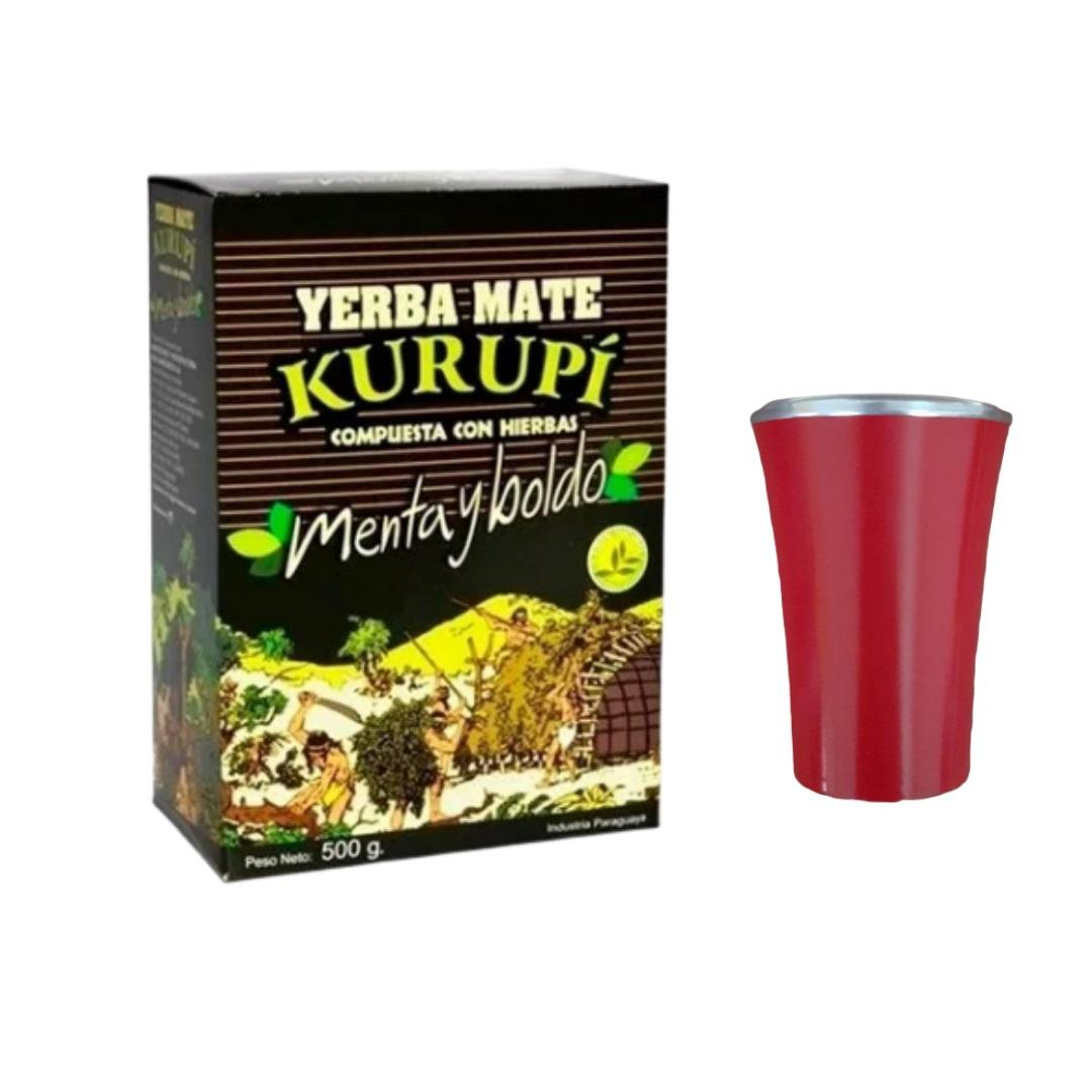 Kit Tereré - Erva Kurupí 500 Gramas Original + Cuia 200ml
