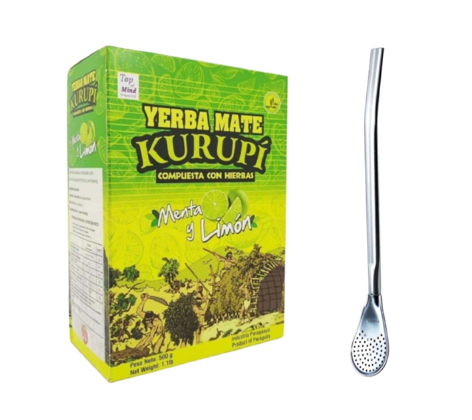 Kit Tereré - Erva Mate Kurupí 500 Gramas Original + Bomba