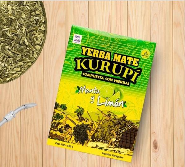 Kit Tereré - Erva Mate Kurupí 500g + Bomba Inox E Escovinha