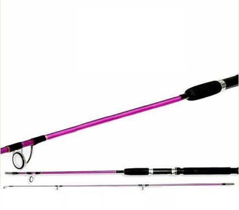 Vara para Molinete de Fibra de Vidro 1,65m 12Lb Pink - CMIK