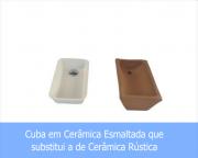 Cuba em Cerâmica Esmaltada Para Substituição do Modelo Rústico