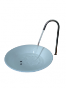 Tigela de vidro branco para água COM FURO