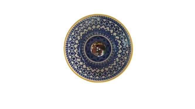 Cuba em Cerâmica Esmaltada Redonda