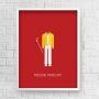 Quadro Freddie Mercury Minimalista