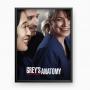 Quadro Grey's Anatomy - Cristina, Derek E Meredith