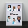 Quadro Grey's Anatomy - Personagens
