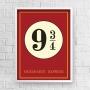 Quadro Plataforma 9 3/4 - Harry Potter