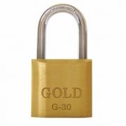Cadeado de Latão Maciço G-30mm Gold
