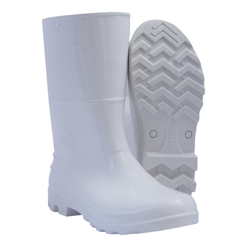 Bota Pvc Branca Safety Boots Cano Médio  Kadesh - B16307