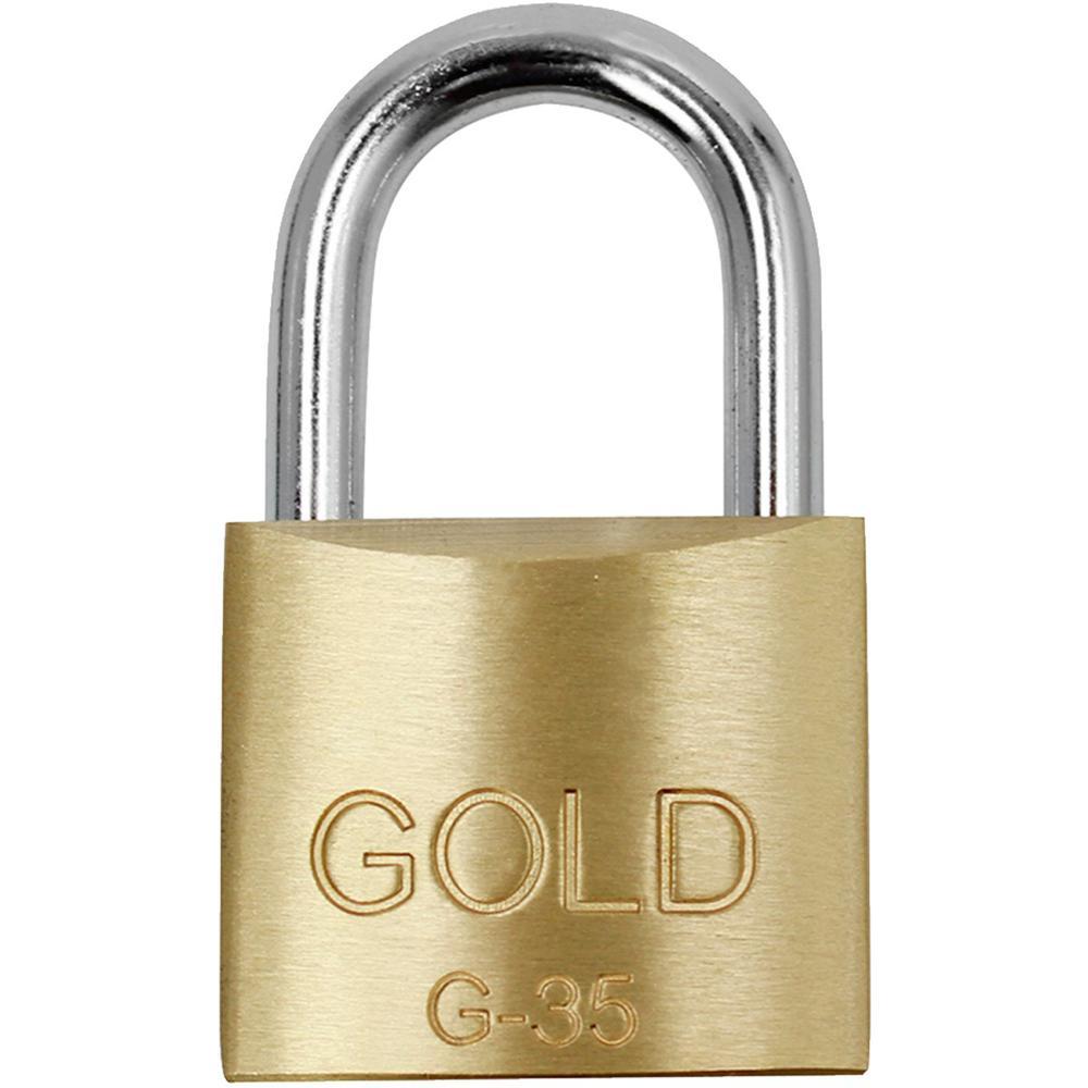 Cadeado de Latão Maciço G-35mm Gold