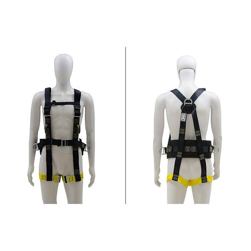 Cinto de Segurança Paraquedista 3 Argolas Acolchoado Athenas
