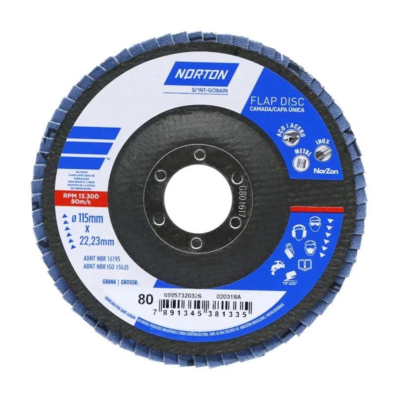 Disco Flap Norton Original R822 4.1/2 Grão 80