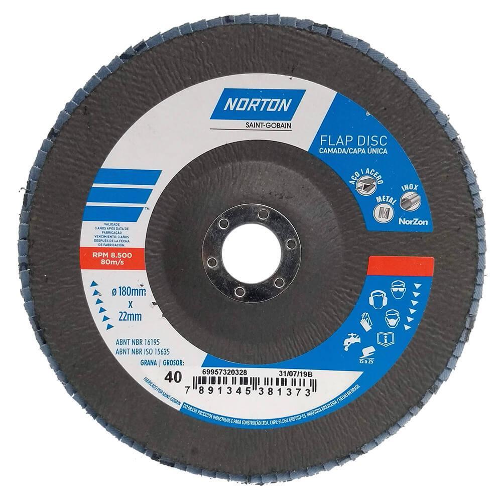 Disco Flap Norton R822 Original 7 Grão 40