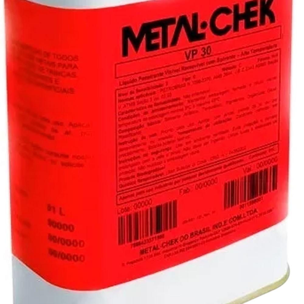 Líquido Penetrante Visível VP30 Lavável à Água 5 Litros - METALCHEK