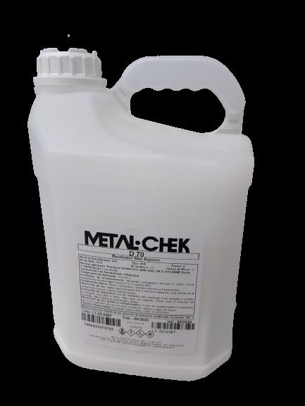 Revelador Não Aquoso em Spray D70 5L - METALCHEK