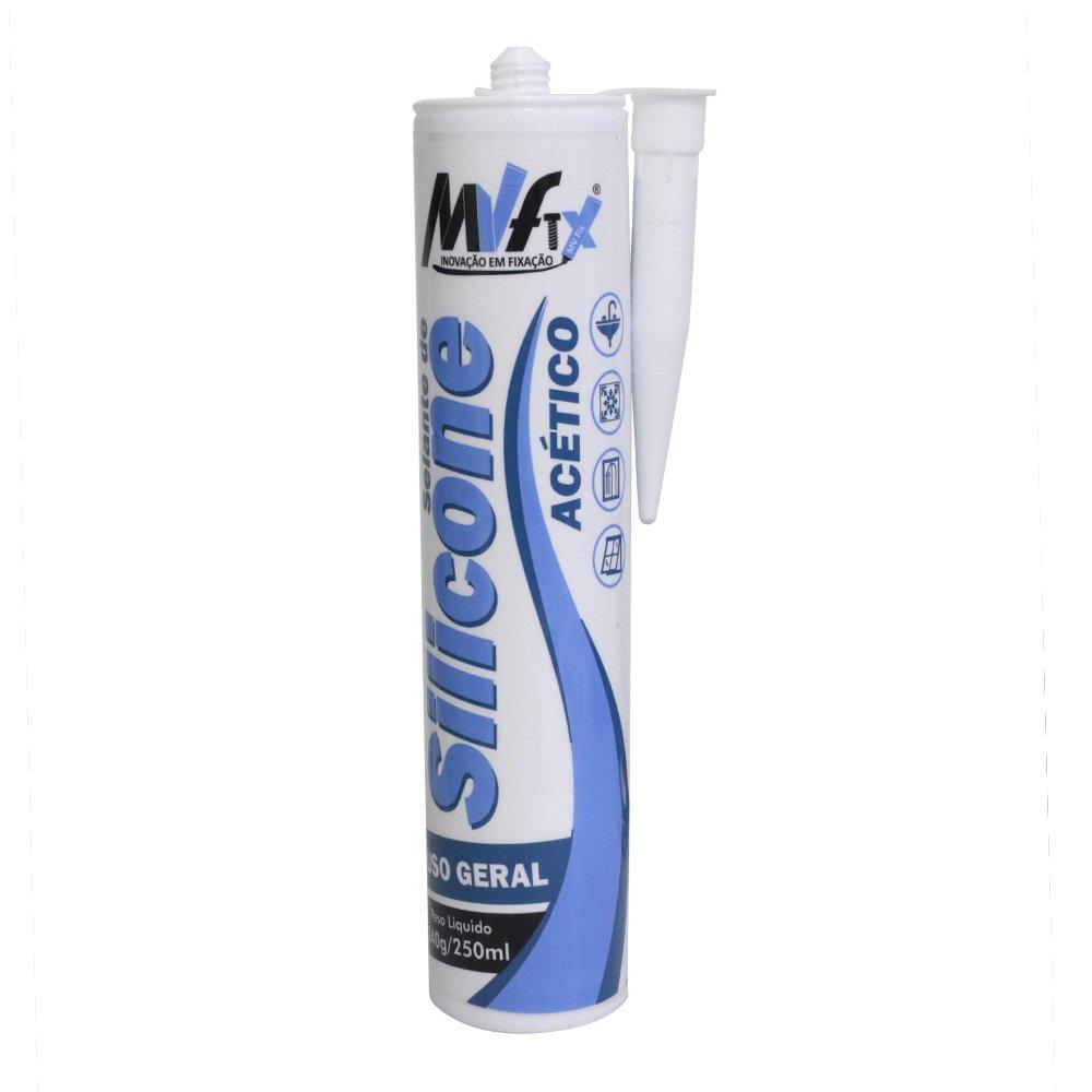 Selante de Silicone Acético Uso Geral MV Fix 240 g / 250 ml
