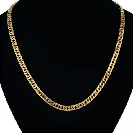 Corrente Banhada A Ouro 18k 63cm X 7mm Alta Qualidade