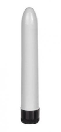Vibrador Personal Liso Médio - Branco Bd222-7b Tam 18x2,5cm