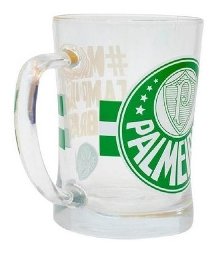 Caneca De Vidro Gigante 660ml - Palmeiras - Produto Oficial