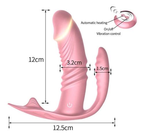 Dupla Penetração Vibrador 3x1 Sem Fio Usb 10 Veloc Cor Pink
