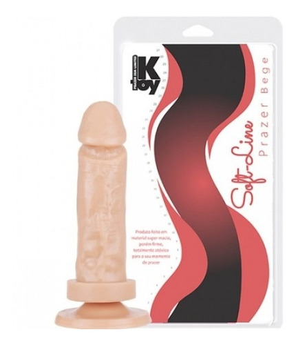 Pênis Realistico 15,5x3,7 Cm Bege Marca Soft Line Kt225