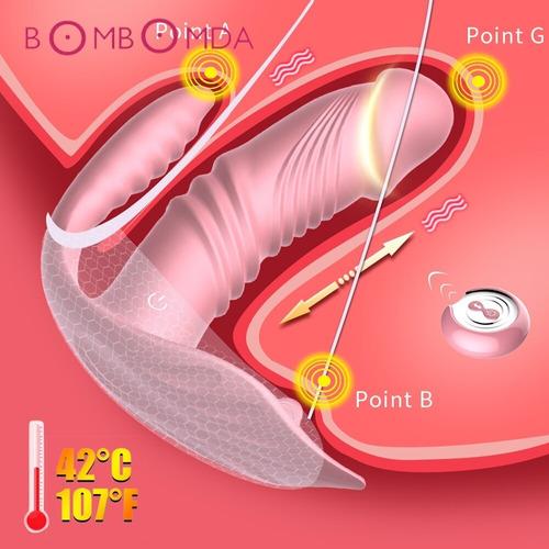 Vibrador 3x1 Dupla Penetração Sem Fio Usb 10 Veloc Rosa