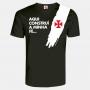 Camisa Vasco Caíque Fé Pincelada Masculina Preta
